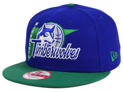 Minnesota Timberwolves NBA HWC Logo Stacker 9FIFTY Snapback Cap Hats