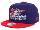 Columbus Blue Jackets New Era NHL Logo Stacker 9FIFTY Snapback Cap Adjustable Hats
