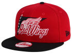 Detroit Red Wings New Era NHL Logo Stacker 9FIFTY Snapback Cap Adjustable Hats