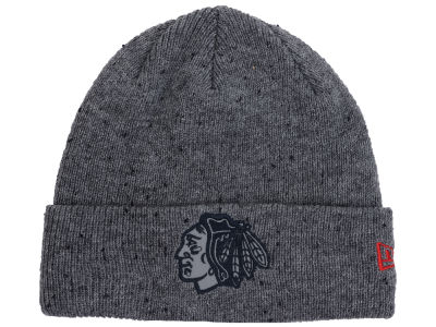 Chicago Blackhawks NHL Reflective Speckled Cuff Knit Hats