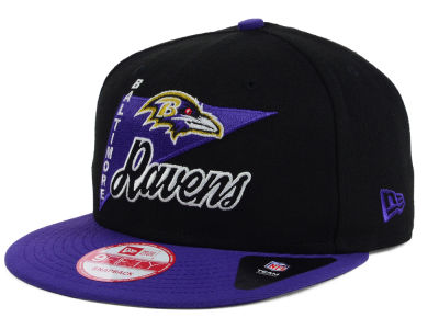 Baltimore Ravens NFL Logo Stacker 9FIFTY Snapback Cap Hats