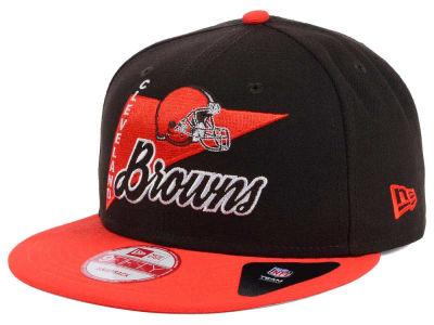 multiple colors a01e4 b7c25 Cleveland Browns New Era NFL Logo Stacker 9FIFTY Snapback Cap   lids.com