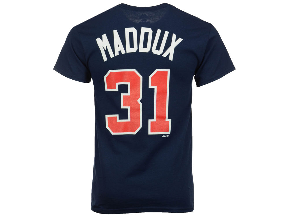 75f662c09 Atlanta Braves Greg Maddux Majestic MLB Men s Cooperstown Player T-Shirt  durable service