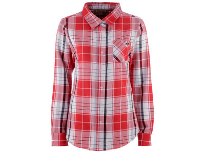 NCAA Women's Missy Boyfriend Plaid Flannel Shirt