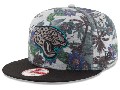 Jacksonville Jaguars NFL Cool Breeze Trop 9FIFTY Snapback Cap Hats