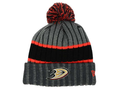 Anaheim Ducks NHL Stripe Chiller Pom Knit Hats