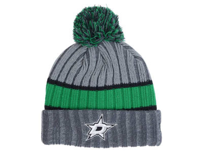 Dallas Stars NHL Stripe Chiller Pom Knit Hats