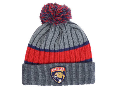 Florida Panthers NHL Stripe Chiller Pom Knit Hats