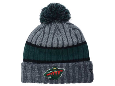 Minnesota Wild NHL Stripe Chiller Pom Knit Hats