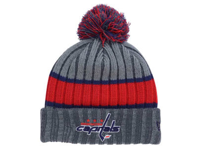 Washington Capitals NHL Stripe Chiller Pom Knit Hats