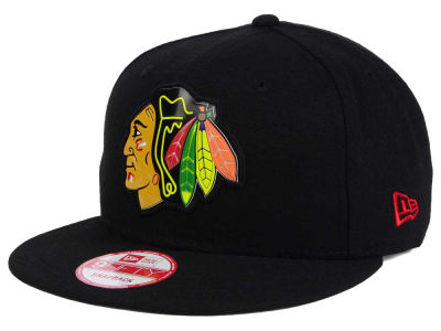 Chicago Blackhawks NHL Bevel 9FIFTY Snapback Cap Hats