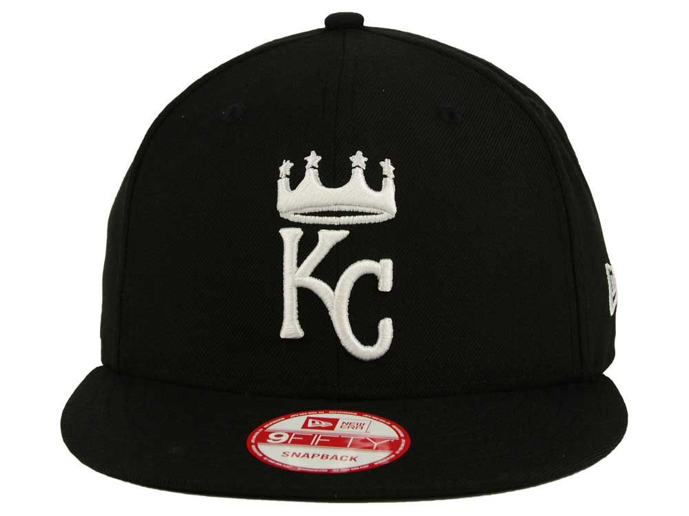 brand new aa761 d6f6c durable service Kansas City Royals New Era MLB Black White 9FIFTY Snapback  Cap