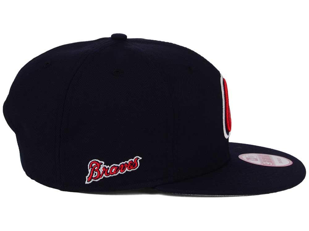 eaff34b9dca Atlanta Braves New Era MLB 2Tone Link BP 9FIFTY Snapback Cap high-quality