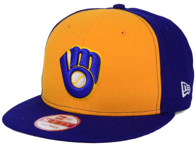 Milwaukee Brewers MLB 2 Tone Link BP 9FIFTY Snapback Cap Hats