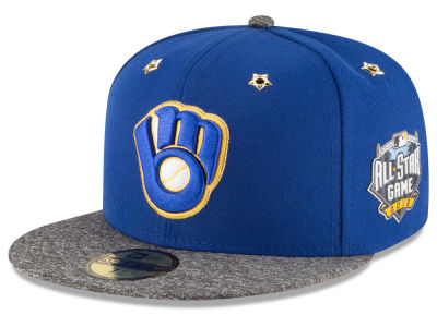 Milwaukee Brewers 2016 MLB All Star Game Patch 59FIFTY Cap Hats