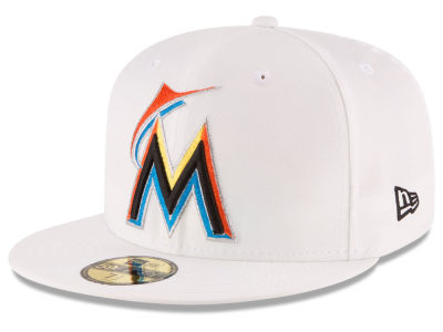 Miami Marlins MLB Home Team 59FIFTY Cap Hats