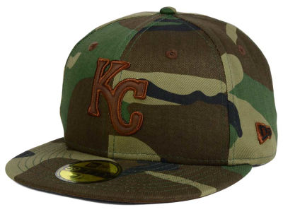 Kansas City Royals MLB Leatherwood 59FIFTY Cap Hats