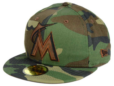 Miami Marlins MLB Leatherwood 59FIFTY Cap Hats