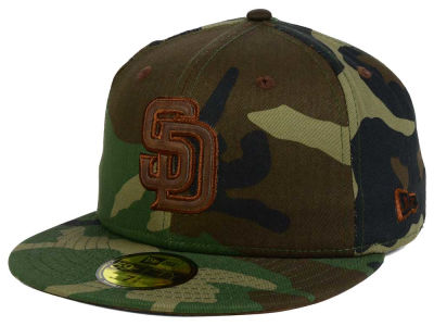 San Diego Padres MLB Leatherwood 59FIFTY Cap Hats
