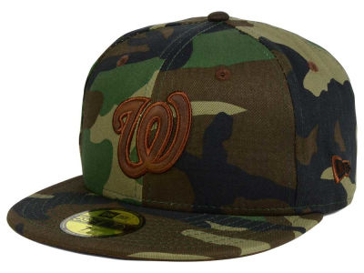 Washington Nationals MLB Leatherwood 59FIFTY Cap Hats
