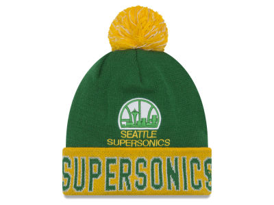 Seattle SuperSonics NBA Hardwood Court Big Reflective Knit Hats