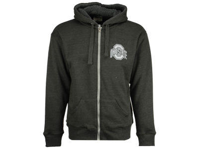 J America NCAA Men's Arch Wordmark Sherpa Lined Full Zip Hoodie