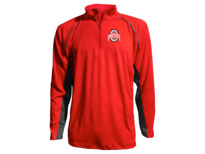 J America NCAA Men's Colorblock Mesh Quarter Zip Pullover