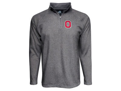 J America NCAA Men's Heathered Microfleece Quarter Zip Pullover