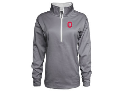 J America NCAA Women's Poly Fleece Half Zip Pullover