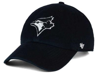 Toronto Blue Jays  47 MLB Black White Black  47 CLEAN UP Cap  c8e046ab5ce