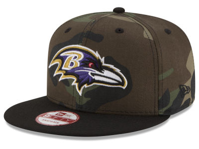 Baltimore Ravens NFL Camo Two Tone 9FIFTY Snapback Cap Hats