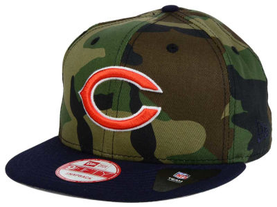 Chicago Bears NFL Camo Two Tone 9FIFTY Snapback Cap Hats