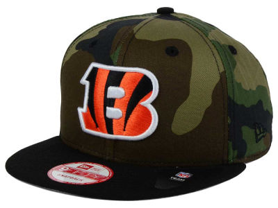Cincinnati Bengals NFL Camo Two Tone 9FIFTY Snapback Cap Hats