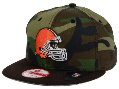 Cleveland Browns NFL Camo Two Tone 9FIFTY Snapback Cap Hats