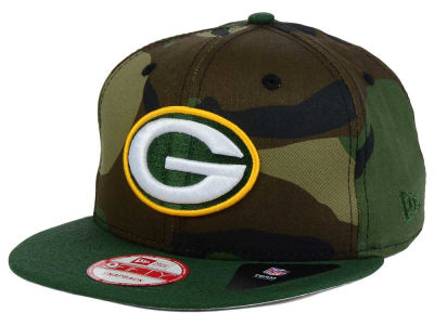 Green Bay Packers NFL Camo Two Tone 9FIFTY Snapback Cap Hats