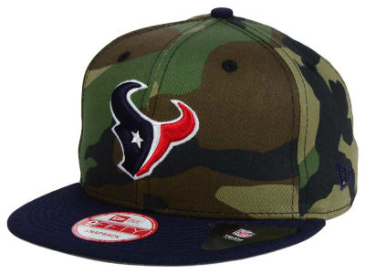 Houston Texans NFL Camo Two Tone 9FIFTY Snapback Cap Hats