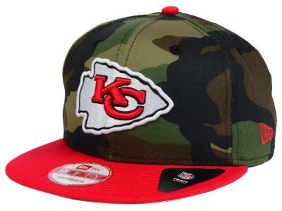 Kansas City Chiefs NFL Camo Two Tone 9FIFTY Snapback Cap Hats