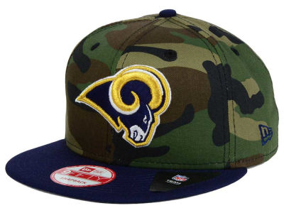 Los Angeles Rams NFL Camo Two Tone 9FIFTY Snapback Cap Hats
