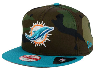 Miami Dolphins NFL Camo Two Tone 9FIFTY Snapback Cap Hats