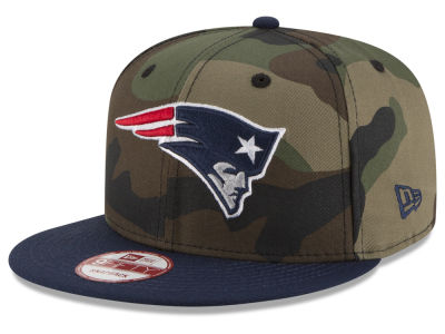 New England Patriots NFL Camo Two Tone 9FIFTY Snapback Cap Hats