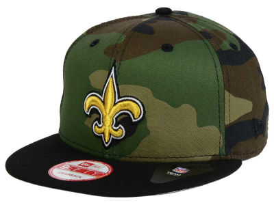 New Orleans Saints NFL Camo Two Tone 9FIFTY Snapback Cap Hats