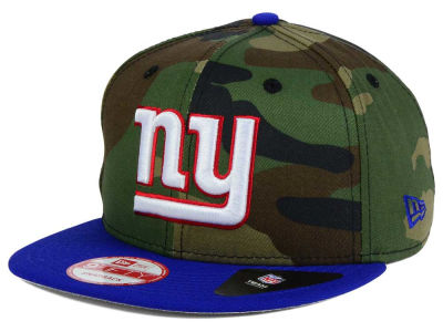 New York Giants NFL Camo Two Tone 9FIFTY Snapback Cap Hats
