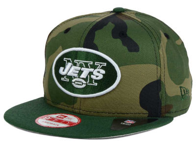 New York Jets NFL Camo Two Tone 9FIFTY Snapback Cap Hats