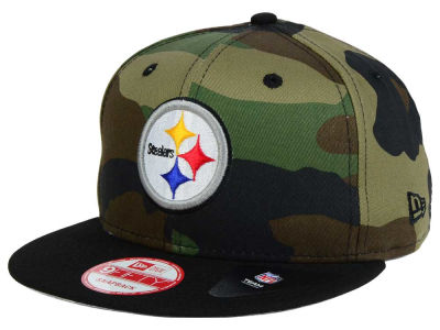 Pittsburgh Steelers NFL Camo Two Tone 9FIFTY Snapback Cap Hats