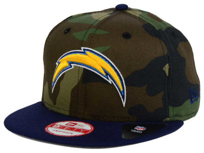 Los Angeles Chargers NFL Camo Two Tone 9FIFTY Snapback Cap Hats