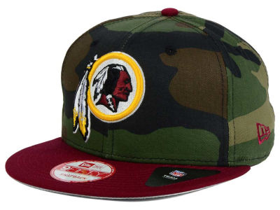 Washington Redskins NFL Camo Two Tone 9FIFTY Snapback Cap Hats