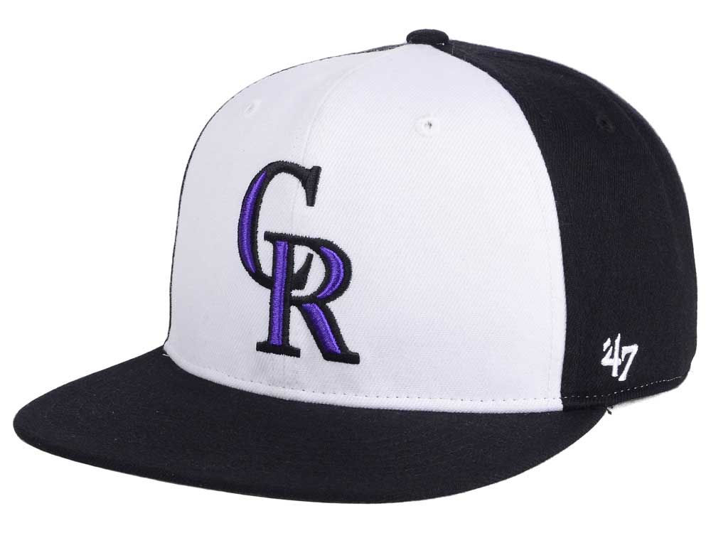 new arrival 47692 e37b2 Colorado Rockies MLB  47 Sure Shot Accent Snapback Cap on sale