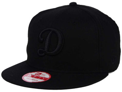 Los Angeles Dodgers MLB Black on Black 9FIFTY Snapback Cap Hats