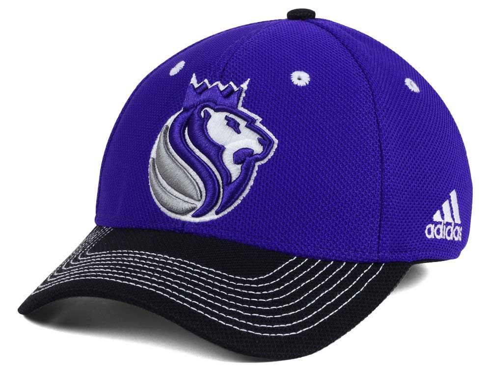 meet 5ed06 fc48b 60%OFF Sacramento Kings adidas NBA Duel Logo Flex Cap