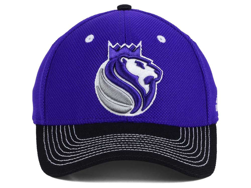 meet 7dea3 dac47 60%OFF Sacramento Kings adidas NBA Duel Logo Flex Cap